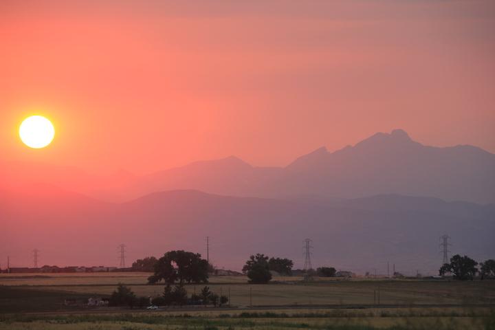 Wildfire sunset photo