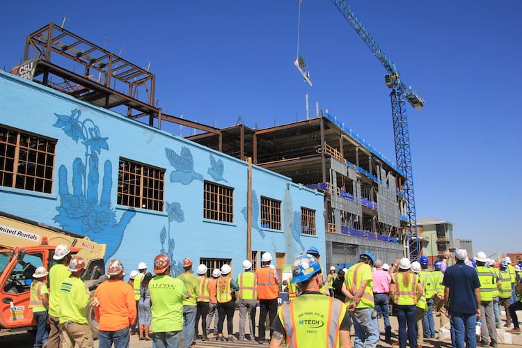 Water building rapidly taking shape on CSU's new Spur campus in Denver