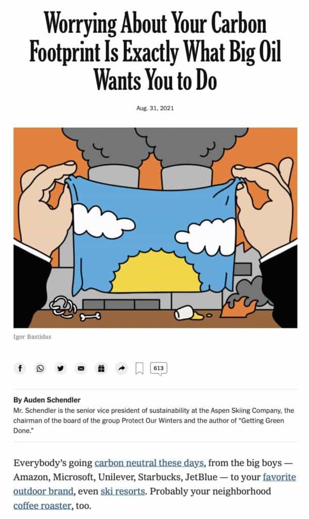 Auden Schendler piece in NY Times